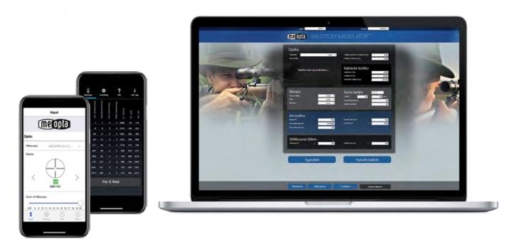 Meoptan ballistinen laskin on saatavilla sekä puhelimille että tietokoneille.