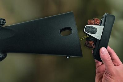 Mauser M18:ssa on irrotettava perälevy.