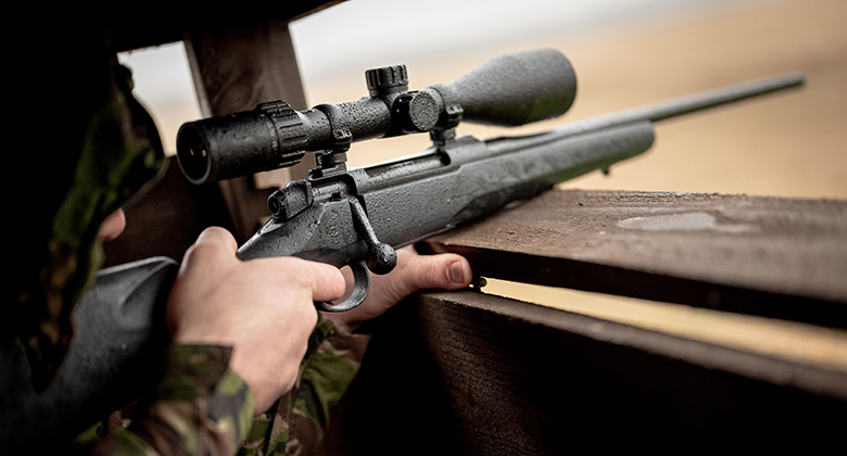 Mauser M18 tornipyynnissä.